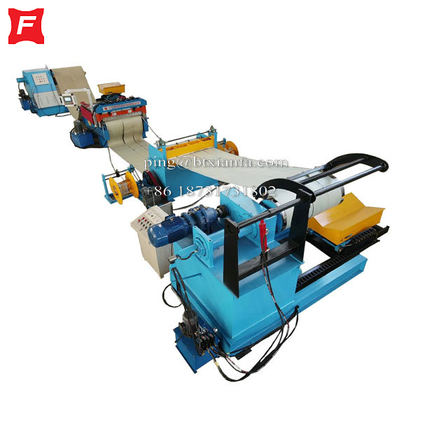 Uncoiling Flattening Slitting Collecting Production Line